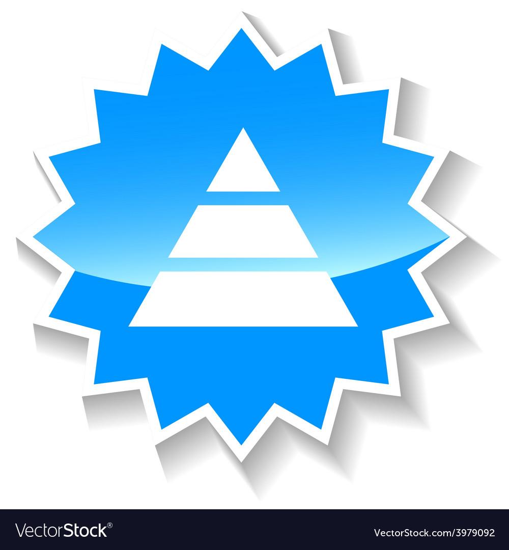 Pyramid blue icon vector   Price: 1 Credit (USD $1)