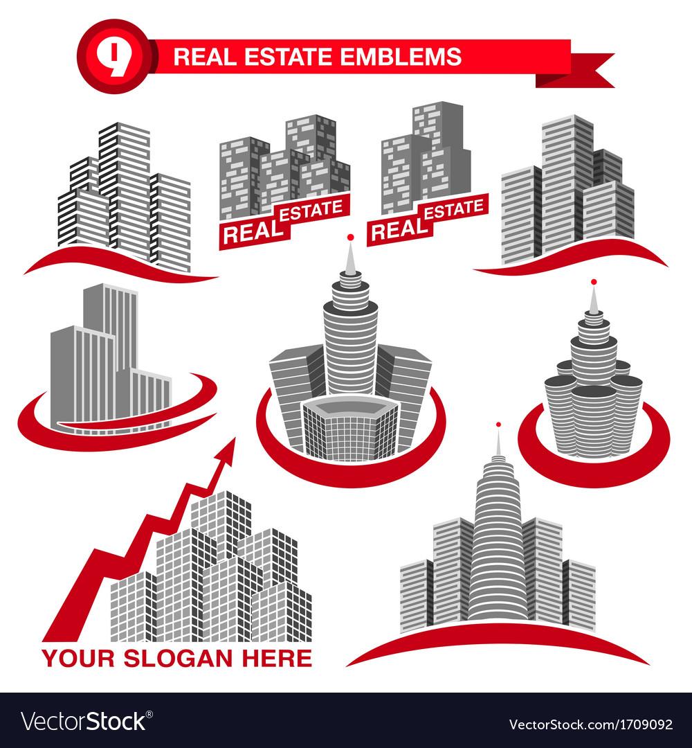Real estate emblems vector   Price: 1 Credit (USD $1)