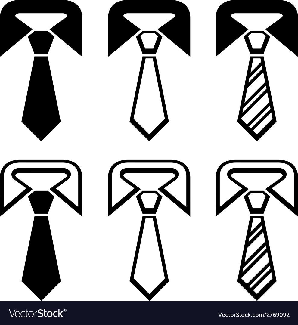 Tie black symbols vector | Price: 1 Credit (USD $1)