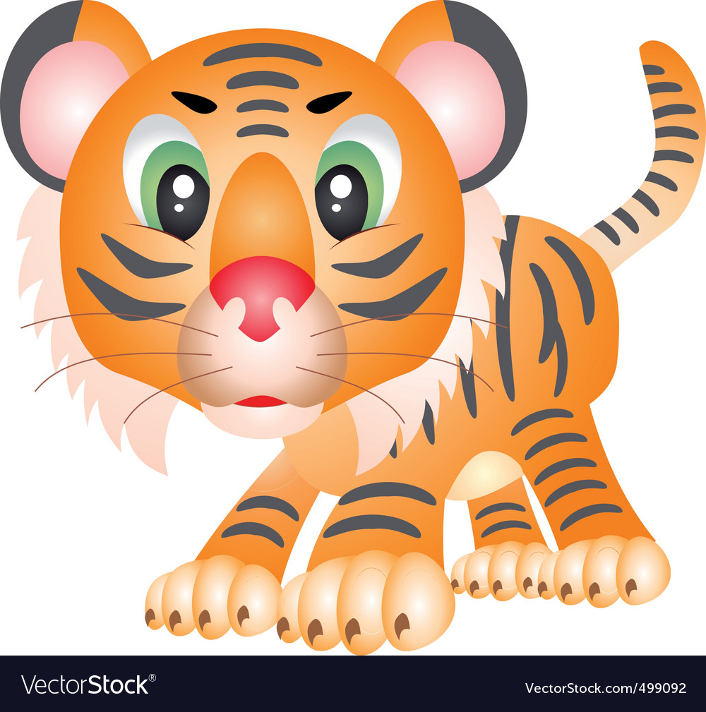 Tiger cartoon vector | Price: 3 Credit (USD $3)