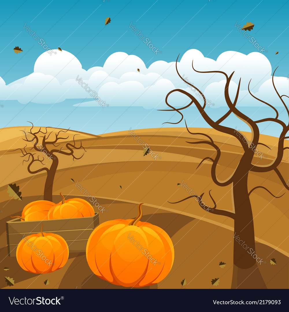 Autumn landscape background vector | Price: 3 Credit (USD $3)
