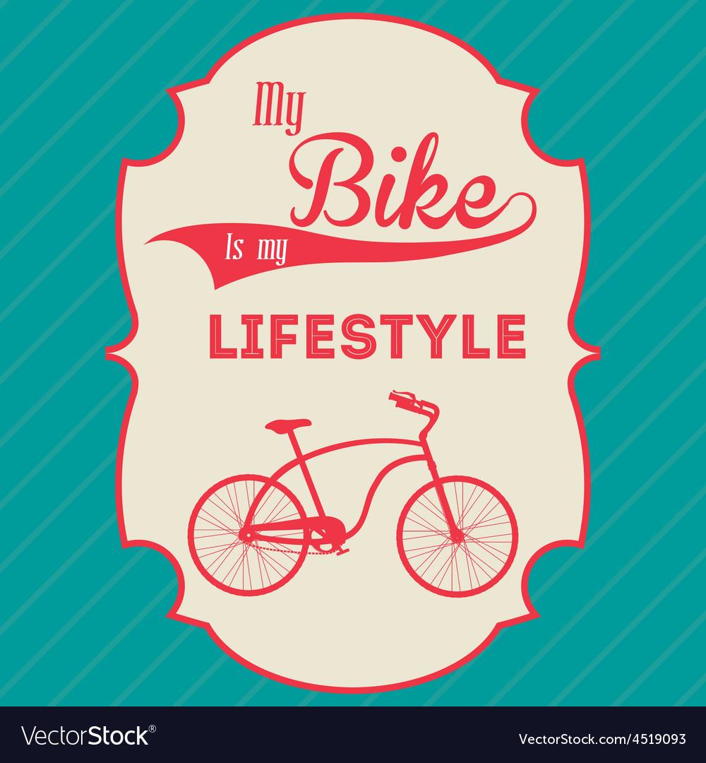 Bike lifestyle design vector | Price: 1 Credit (USD $1)