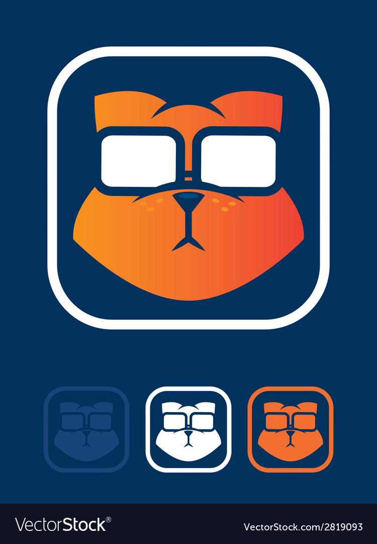 Cat geek vector | Price: 1 Credit (USD $1)