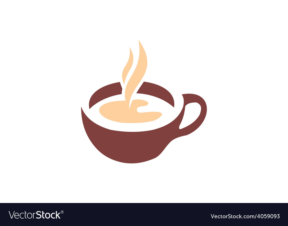 Coffee tea cup abstract logo vector | Price: 1 Credit (USD $1)