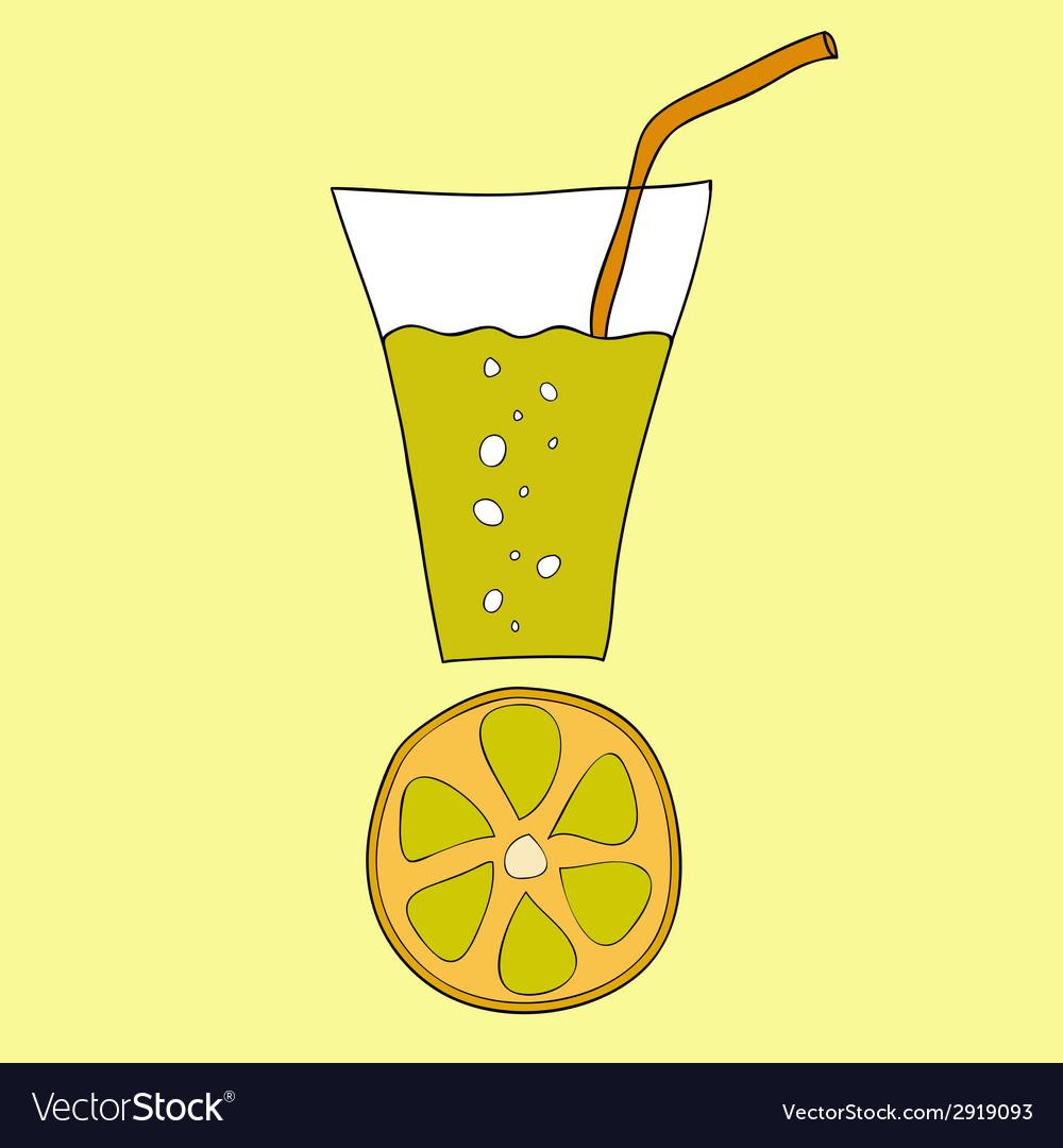 Doodle lemon juice vector   Price: 1 Credit (USD $1)