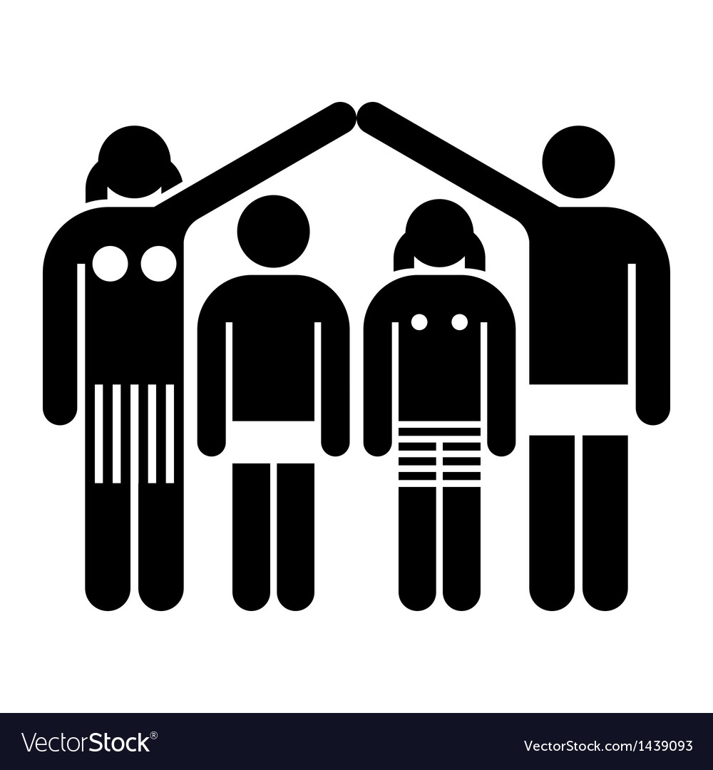 Family and home concept vector | Price: 1 Credit (USD $1)