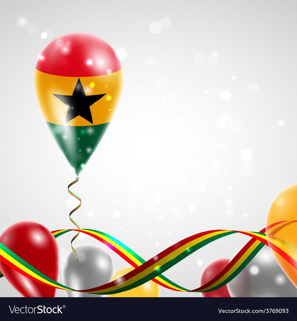 Flag of ghana on balloon vector | Price: 3 Credit (USD $3)