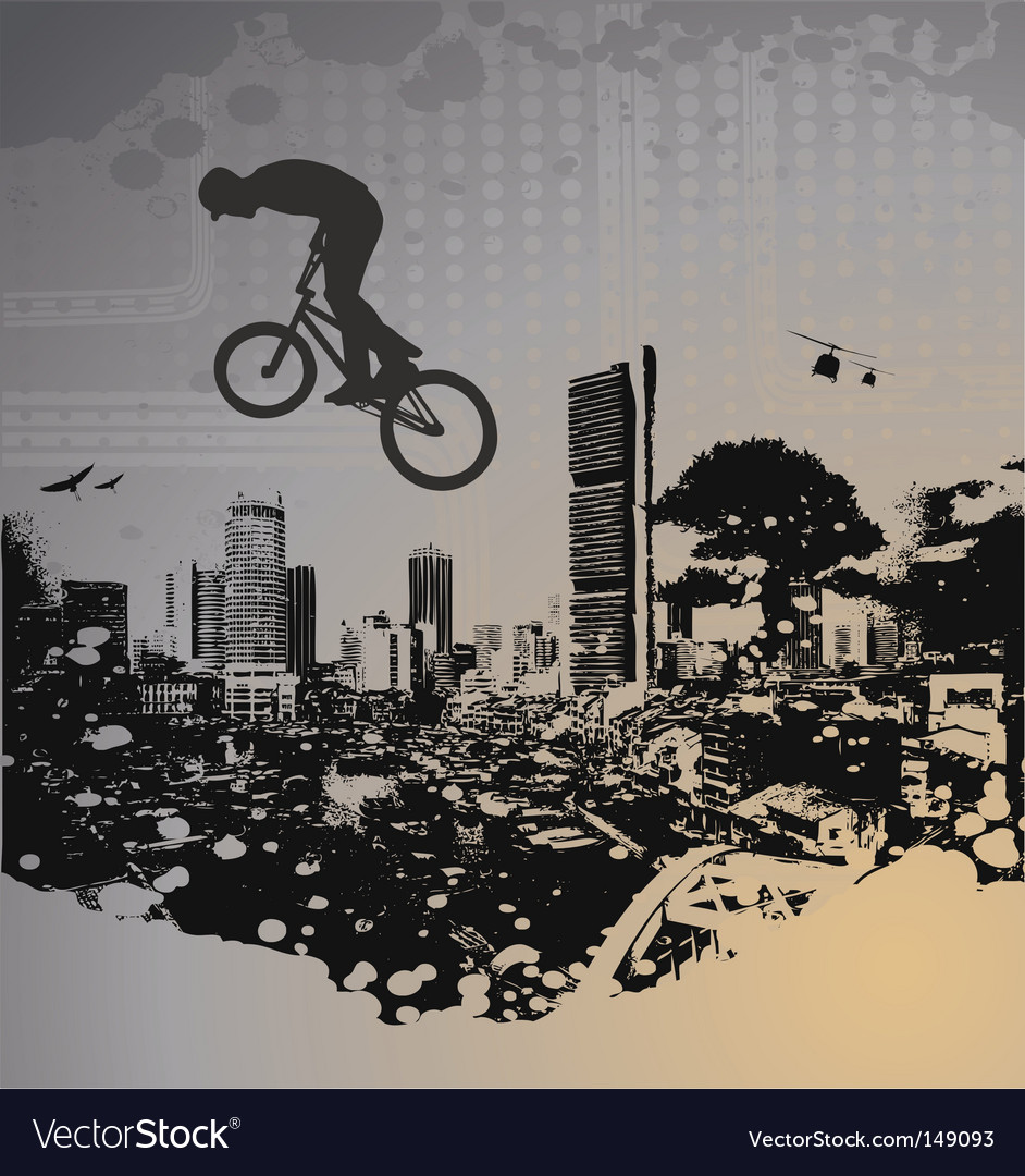Guy with bmx vector | Price: 1 Credit (USD $1)