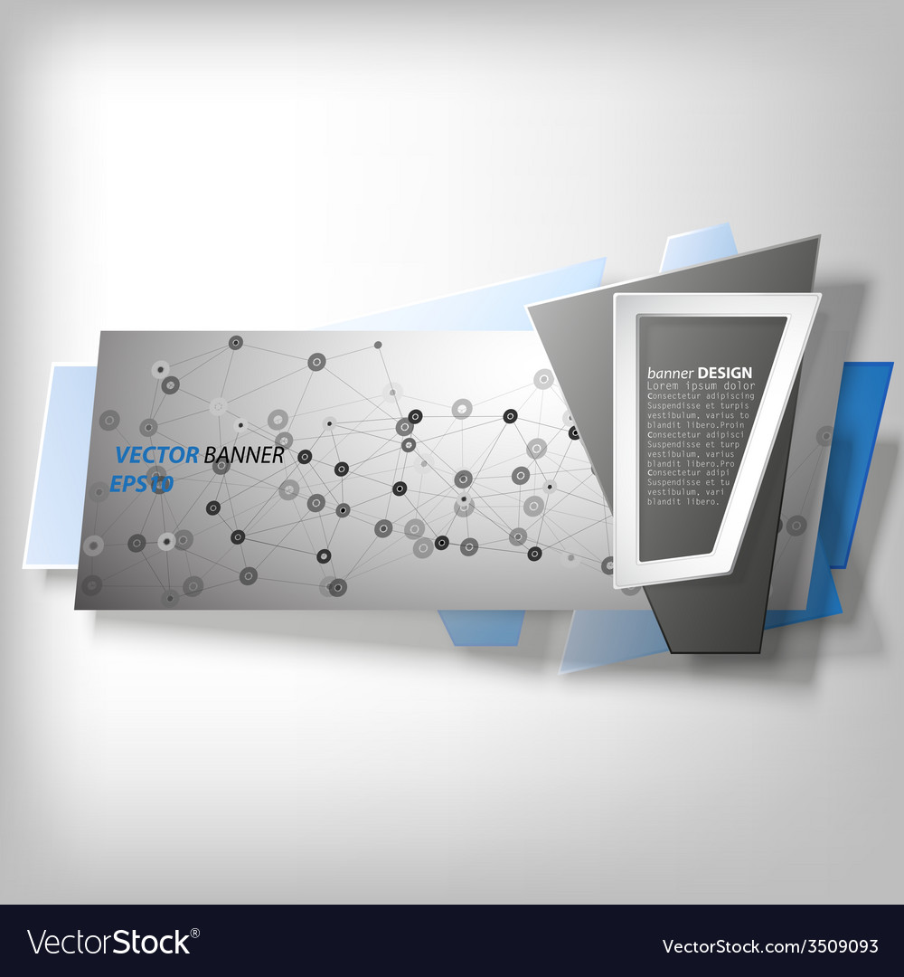 Infographic banner origami styled vector   Price: 1 Credit (USD $1)