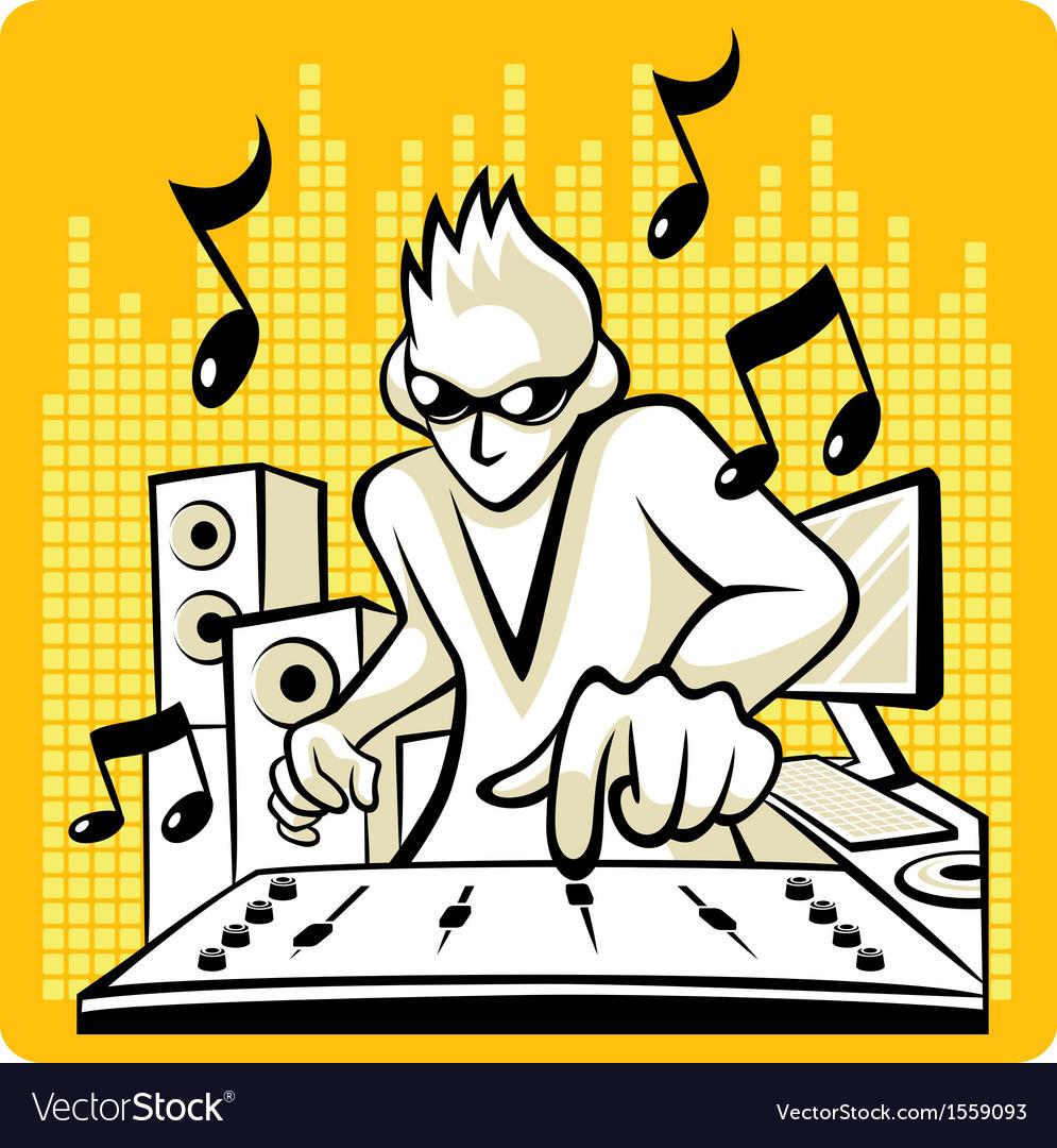 Music dj vector | Price: 1 Credit (USD $1)