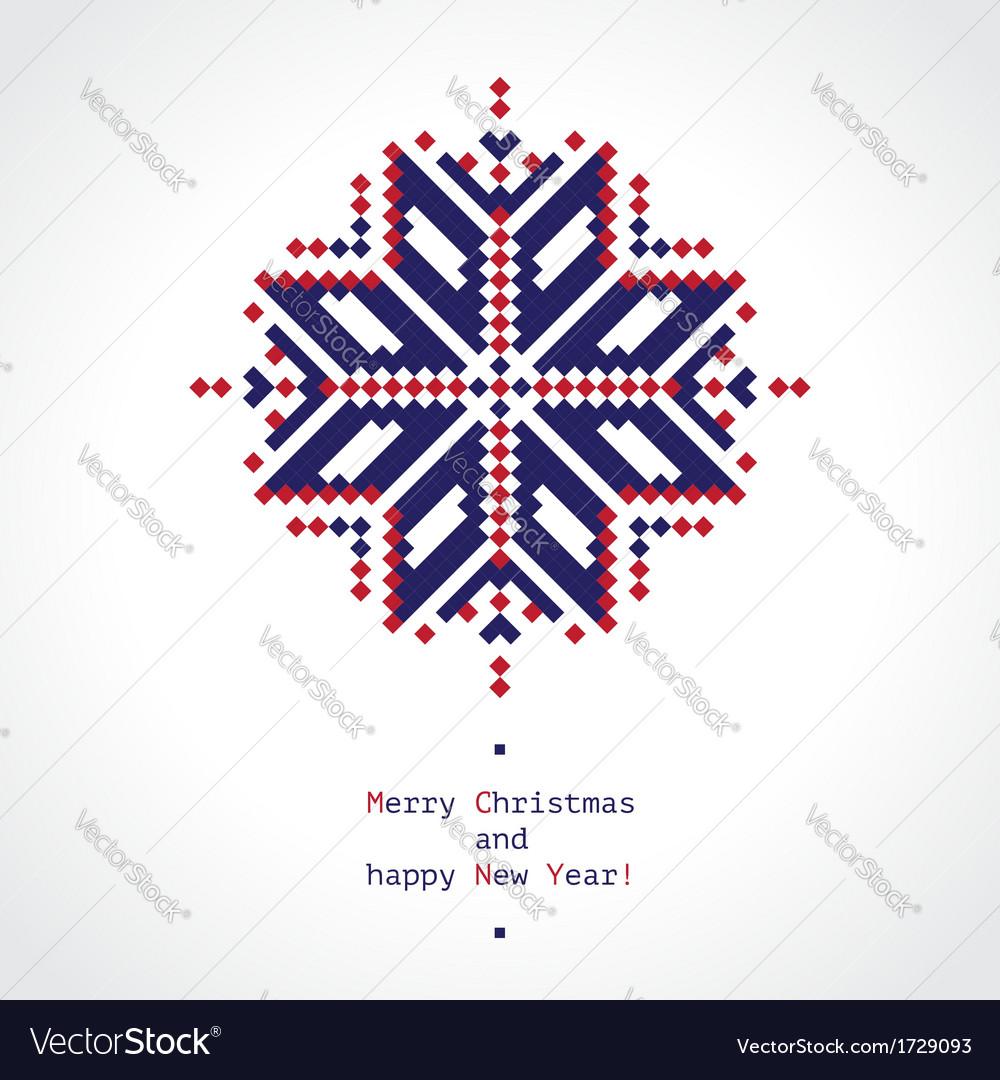 Pixel snowflake vector | Price: 1 Credit (USD $1)