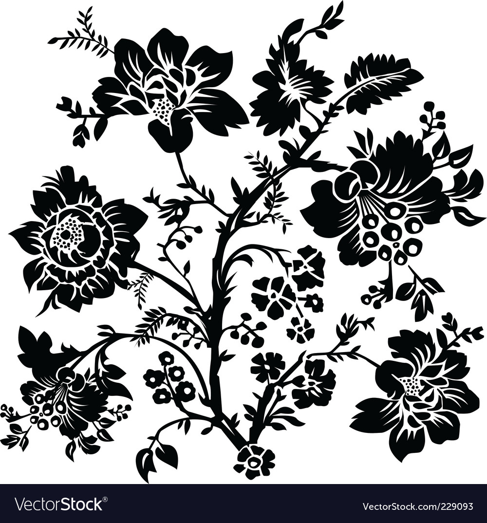Rose and thorn ornament vector | Price: 1 Credit (USD $1)
