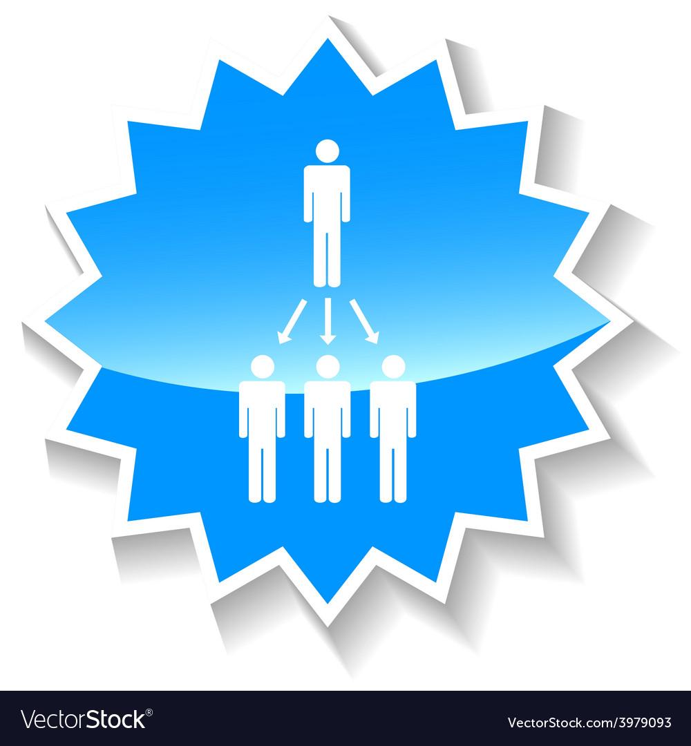 Structure blue icon vector | Price: 1 Credit (USD $1)