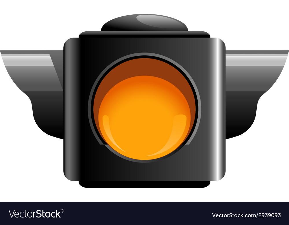 Yellow traffic light vector | Price: 1 Credit (USD $1)