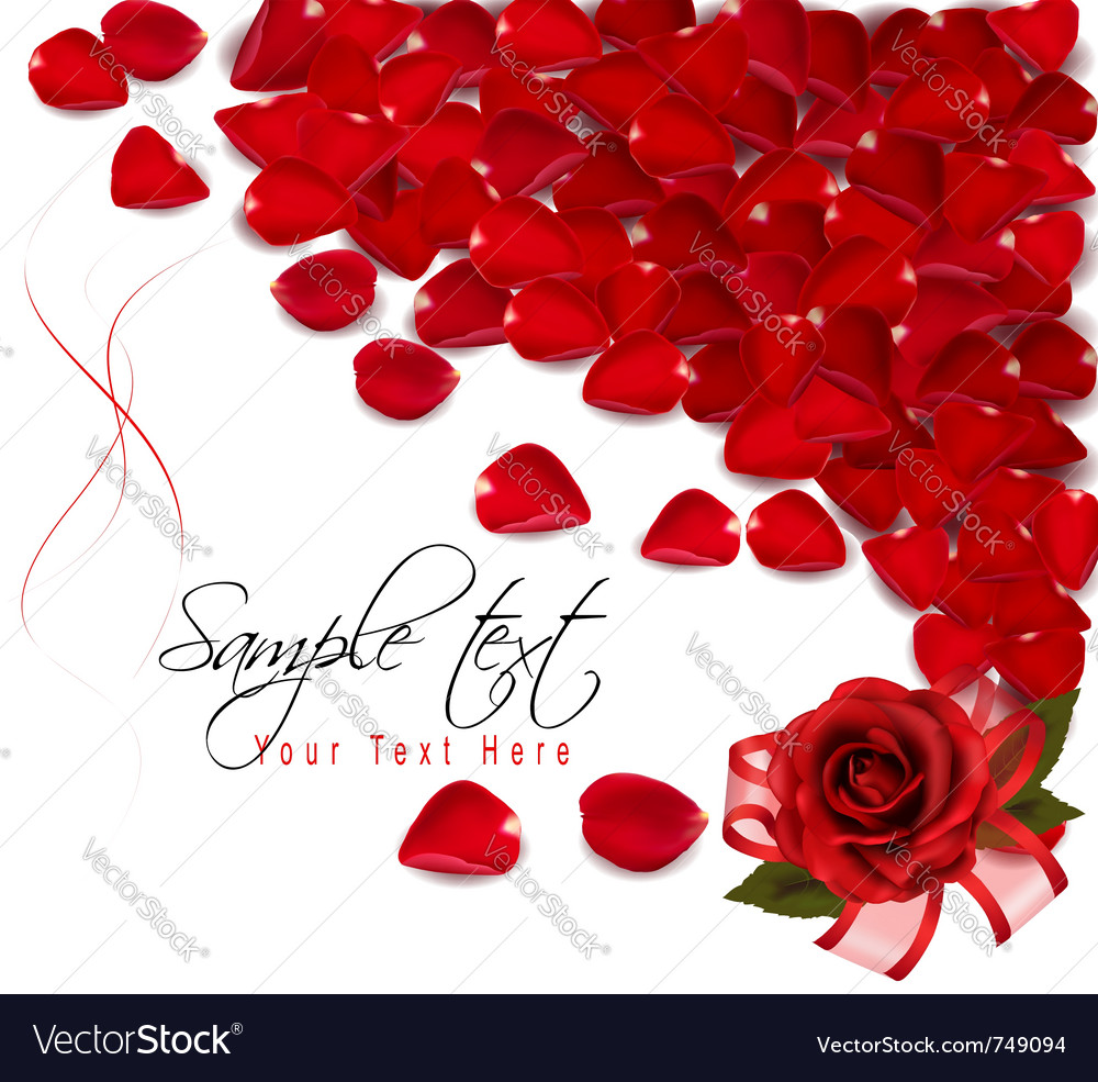 Background of red rose petals vector | Price: 1 Credit (USD $1)