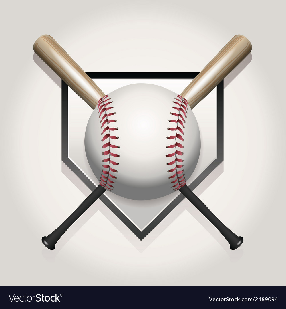 Baseball bat homeplate vector | Price: 1 Credit (USD $1)
