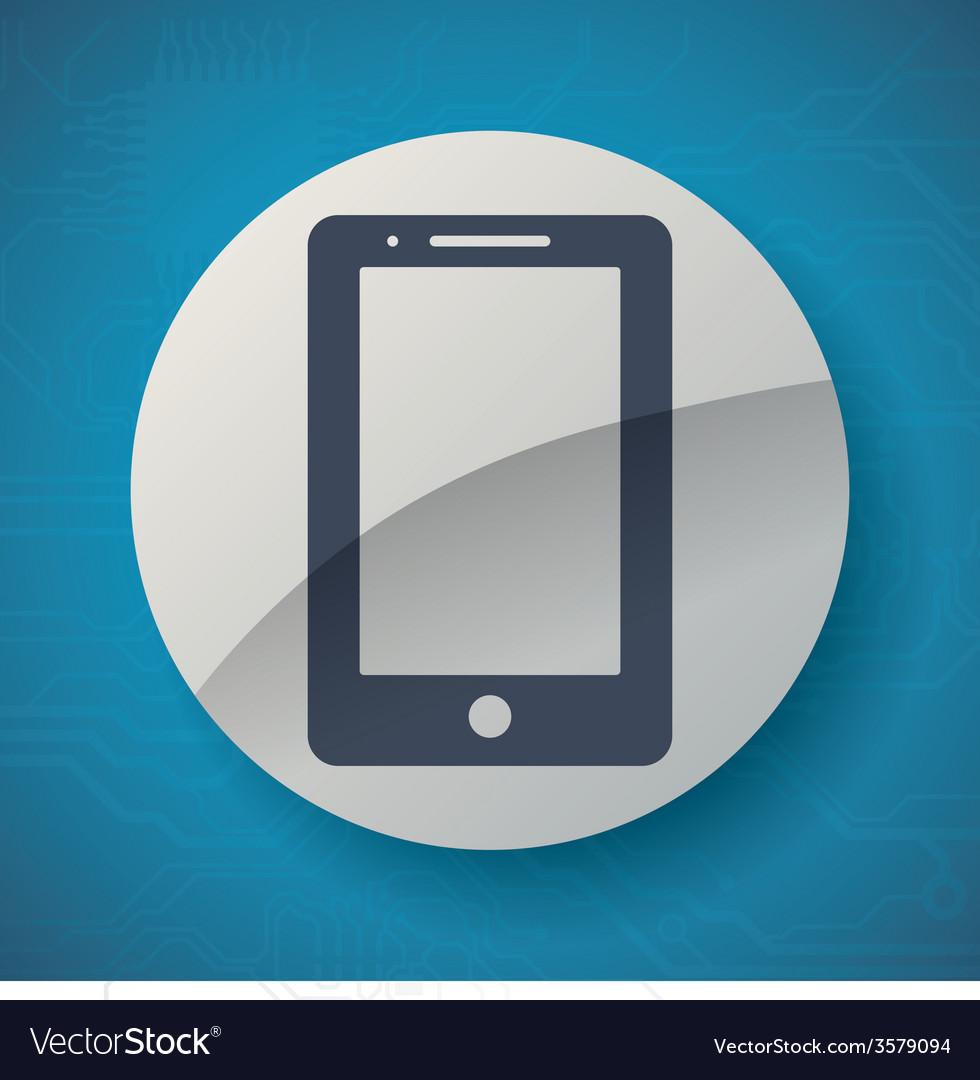 Cellphone icon vector | Price: 1 Credit (USD $1)