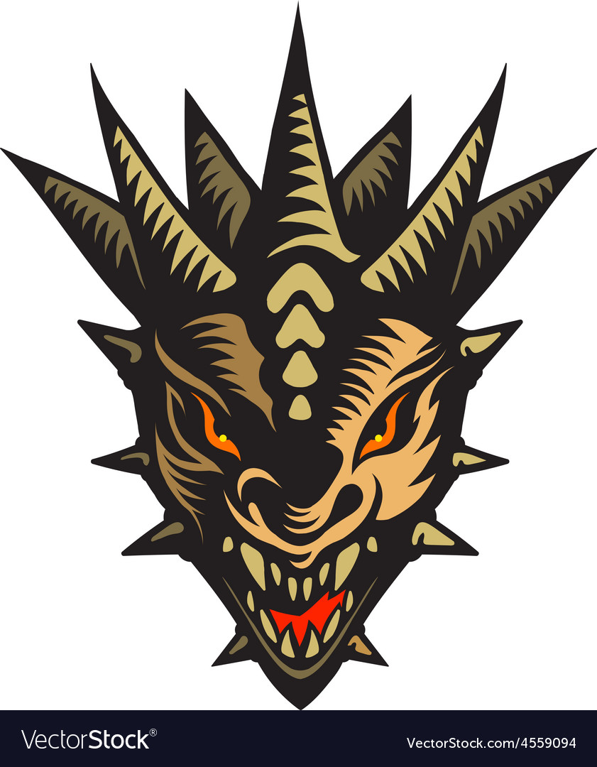 Dragons head tattoo vector | Price: 3 Credit (USD $3)