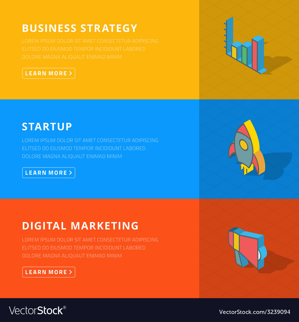 Flat design concept for business strategystartup vector | Price: 1 Credit (USD $1)