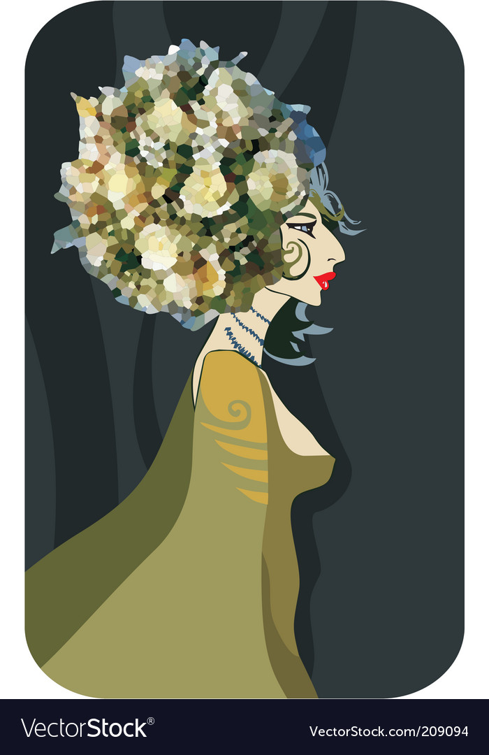 Flower queen vector | Price: 3 Credit (USD $3)
