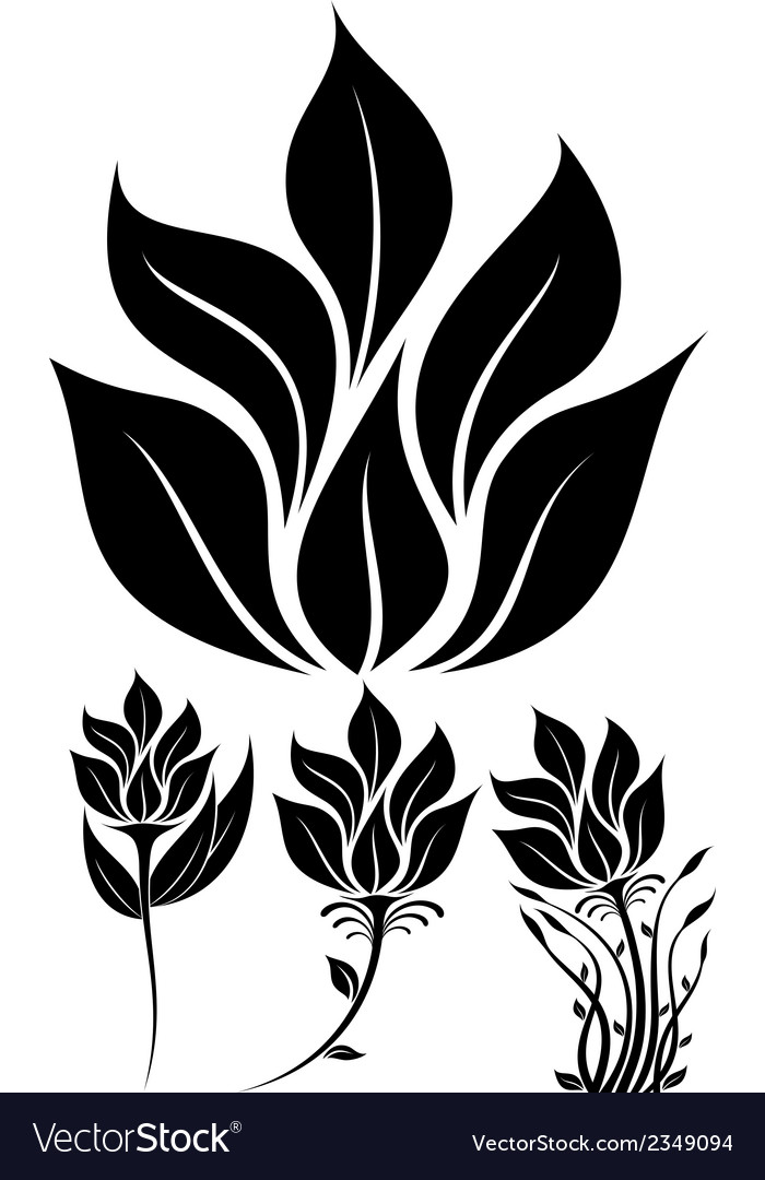 Flowers set 00 vector | Price: 1 Credit (USD $1)