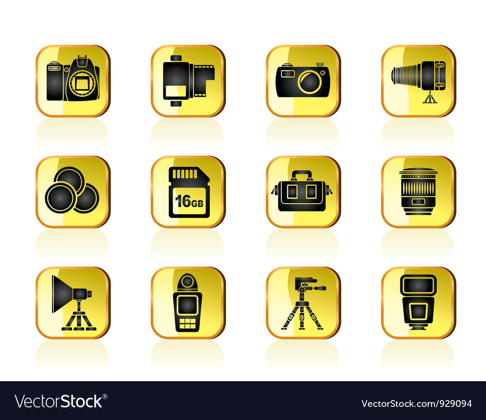 Photography equipment and tools icons vector | Price: 1 Credit (USD $1)