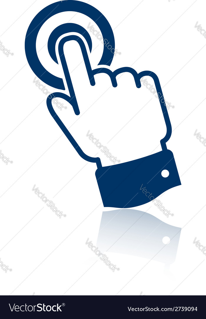 Pointing finger icon vector | Price: 1 Credit (USD $1)