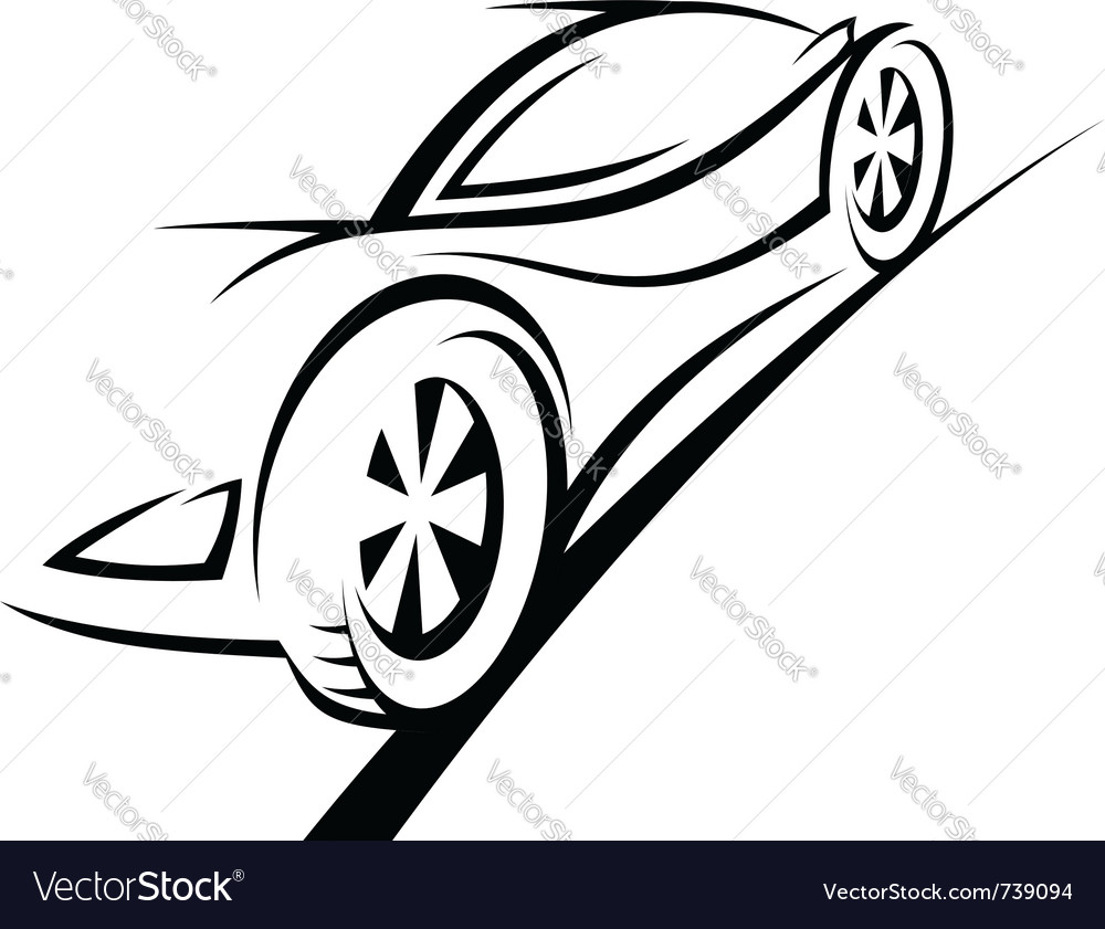 Silhouette of sport car vector | Price: 1 Credit (USD $1)