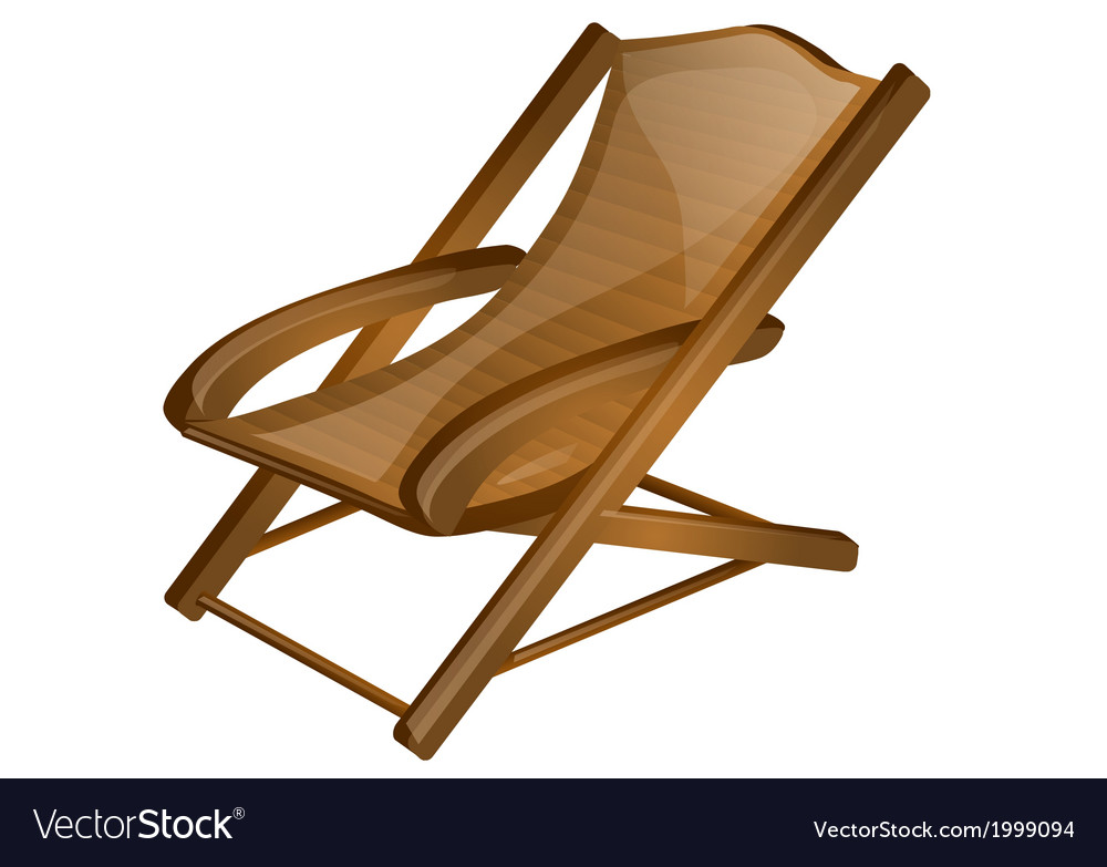 Wood chair vector | Price: 1 Credit (USD $1)