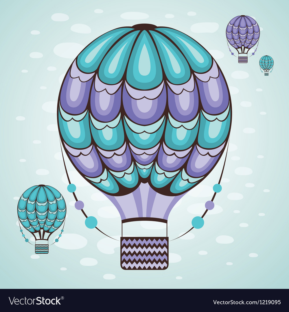 Air balloon vector | Price: 3 Credit (USD $3)