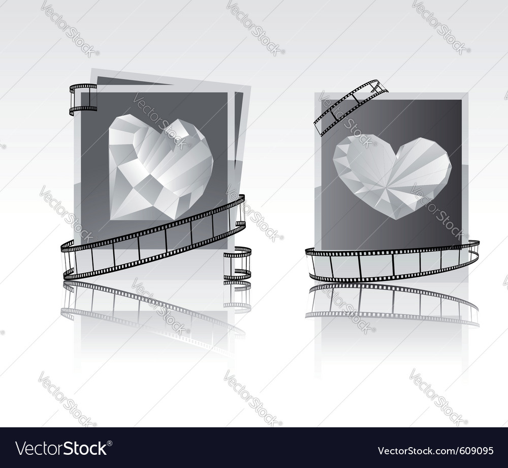 Black-white snapshots with diamonds vector | Price: 1 Credit (USD $1)