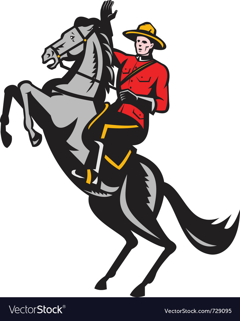 Canadian mounted police vector | Price: 1 Credit (USD $1)