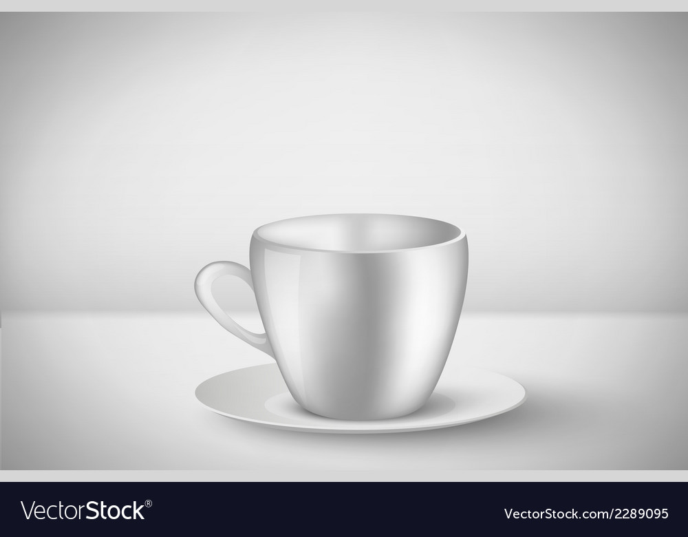 Empty mug with handle vector | Price: 1 Credit (USD $1)
