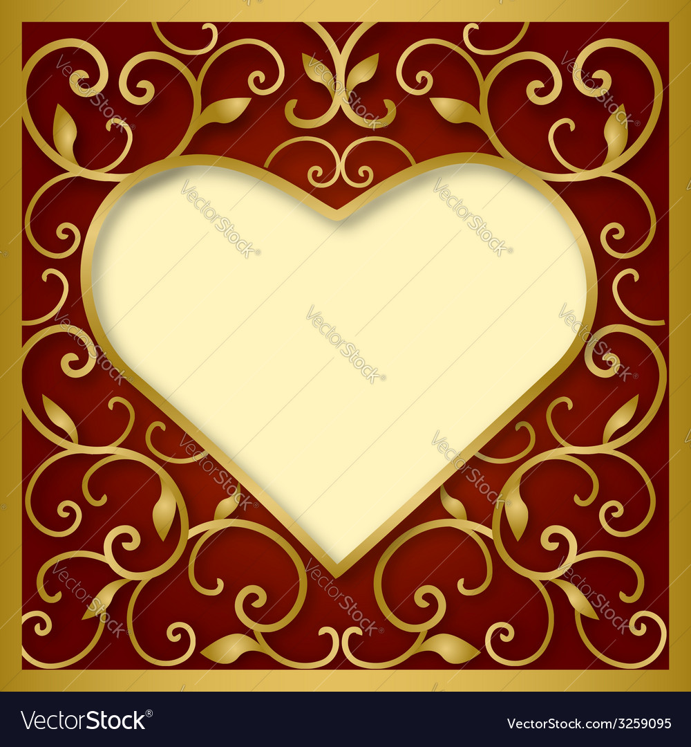 Heart on red background vector | Price: 1 Credit (USD $1)