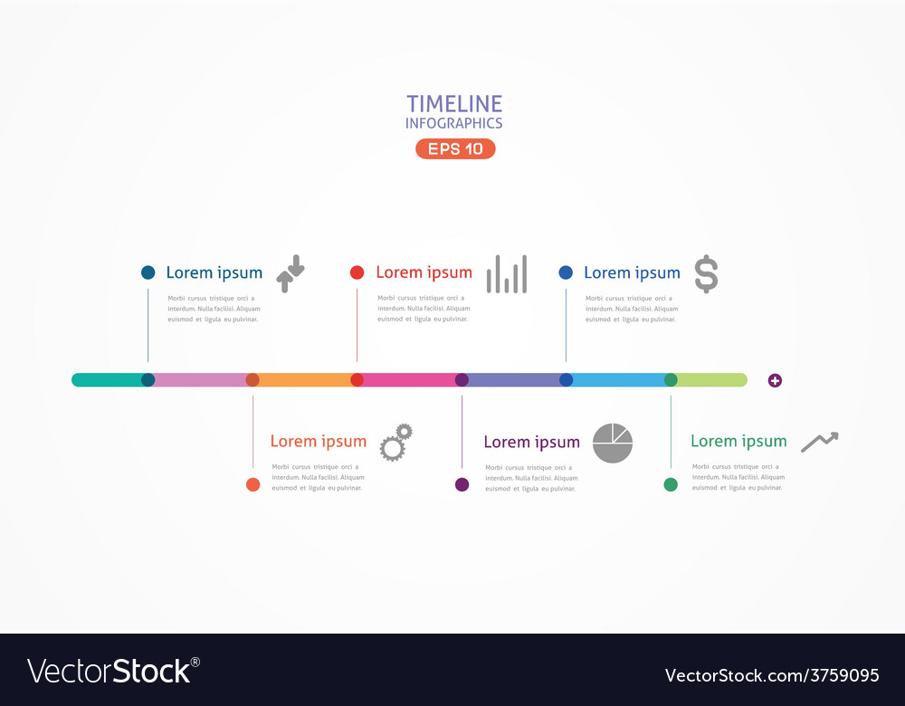 Horizontal line with color points for submission vector | Price: 1 Credit (USD $1)