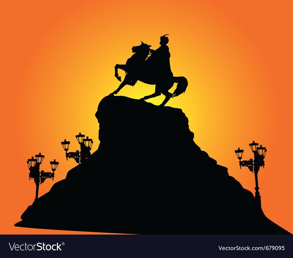 Kiev bohdan khmelnytsy silhouette vector