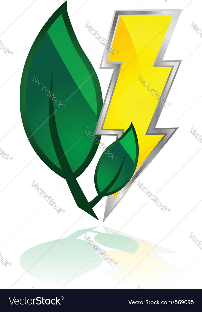 Leaves and lightning vector | Price: 1 Credit (USD $1)