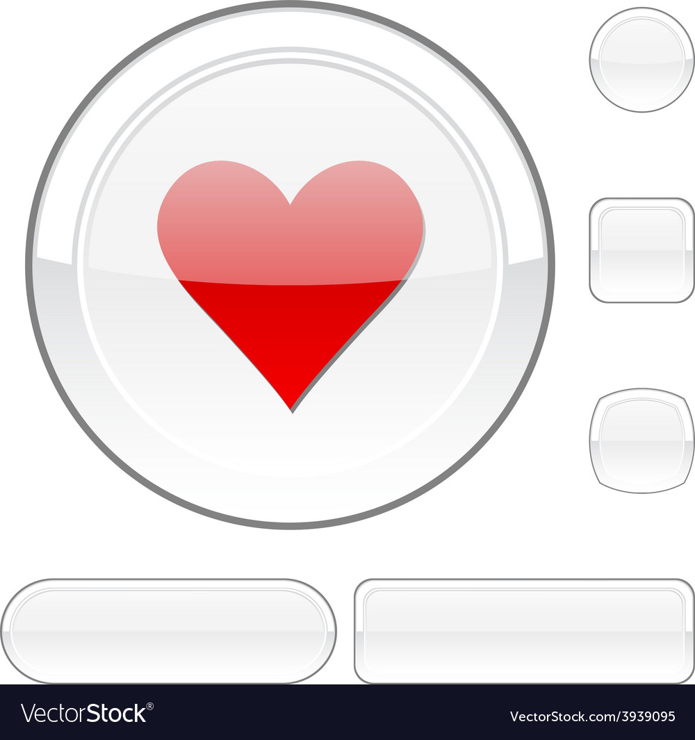 Love white button vector | Price: 1 Credit (USD $1)