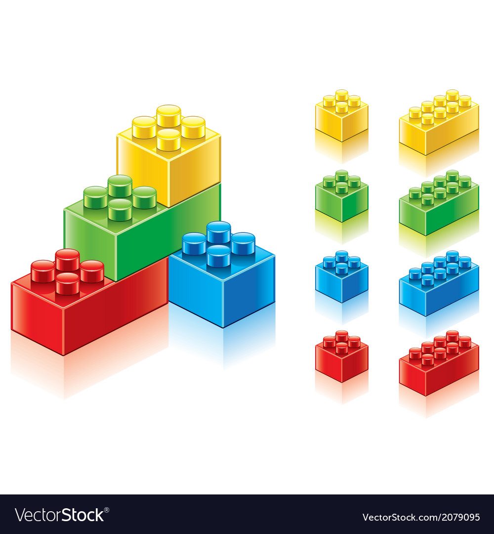 Object plastic blocks vector | Price: 1 Credit (USD $1)
