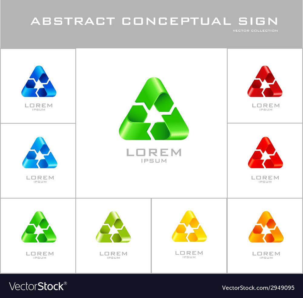 Recycling sign logo design template vector | Price: 1 Credit (USD $1)