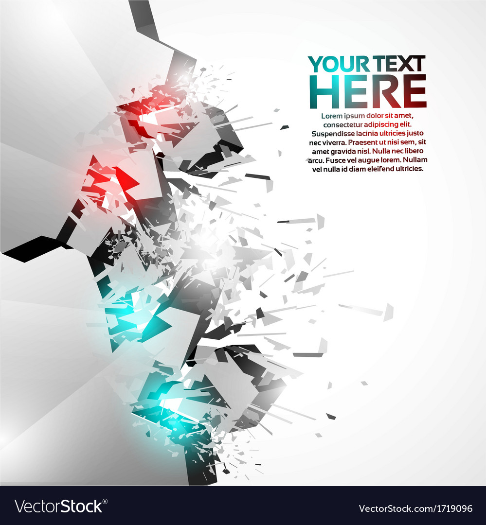3d shiny explosion speech template vector