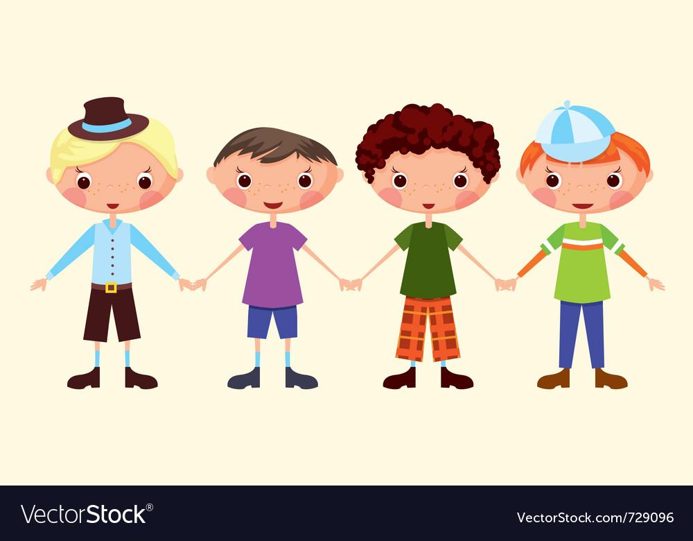 Cartoon boys vector | Price: 3 Credit (USD $3)