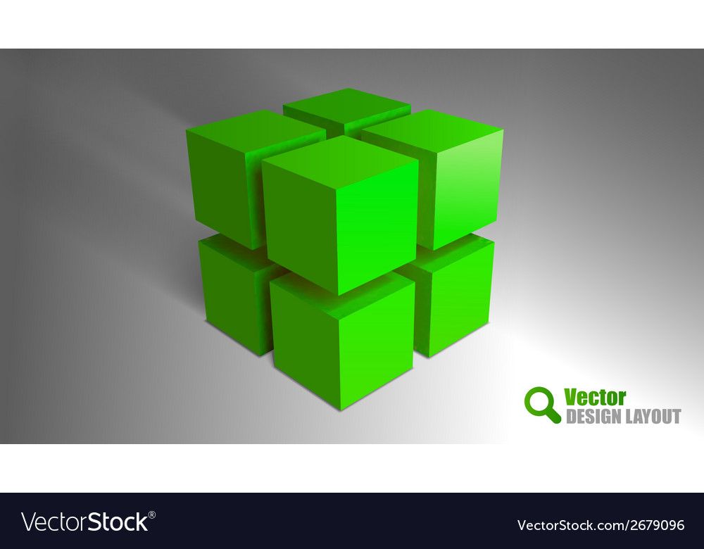 Cube green vector | Price: 1 Credit (USD $1)