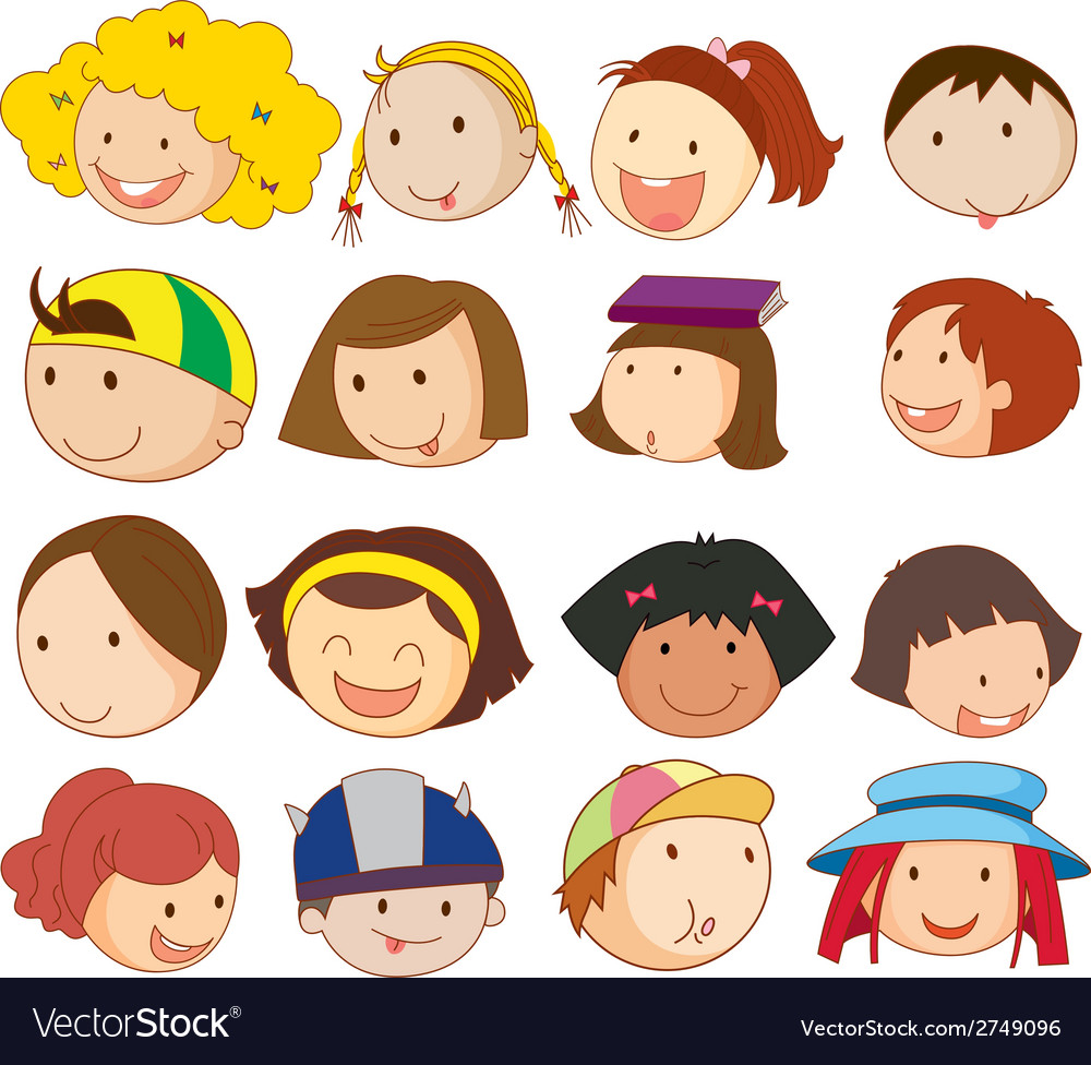 Different faces vector | Price: 1 Credit (USD $1)