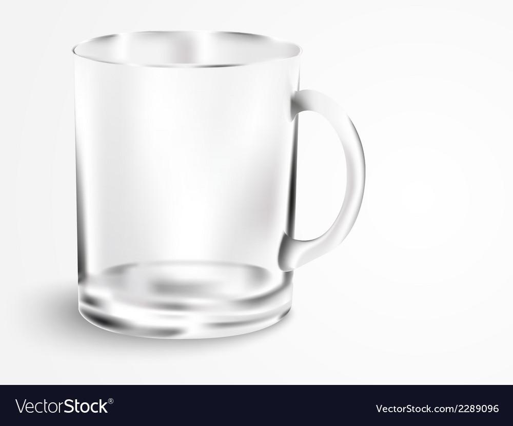 Empty mug with handle vector | Price: 1 Credit (USD $1)