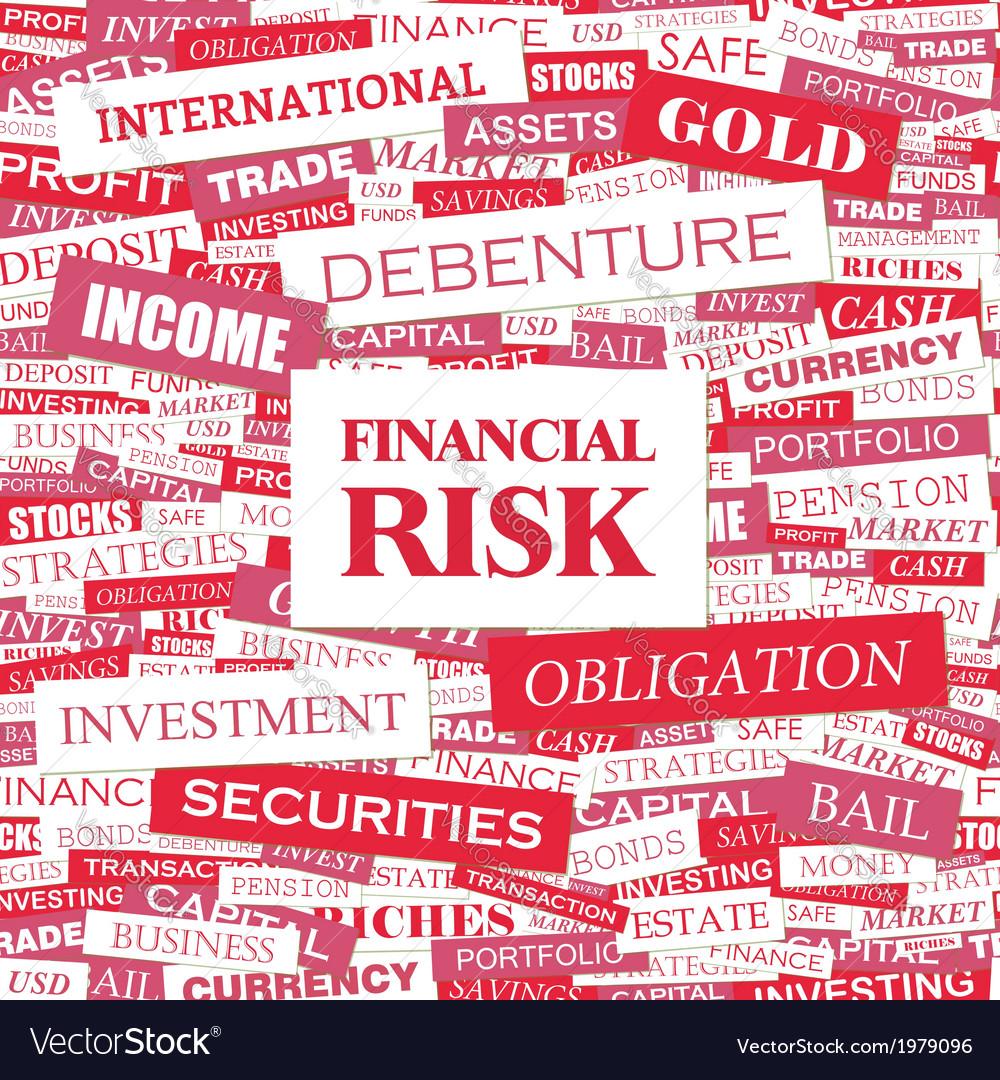 Financial risk vector | Price: 1 Credit (USD $1)