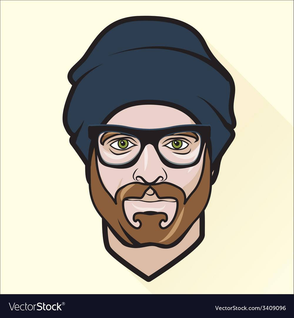 Flat design mans portrait vector | Price: 1 Credit (USD $1)