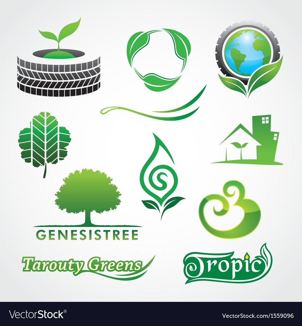 Greens symbol vector | Price: 1 Credit (USD $1)