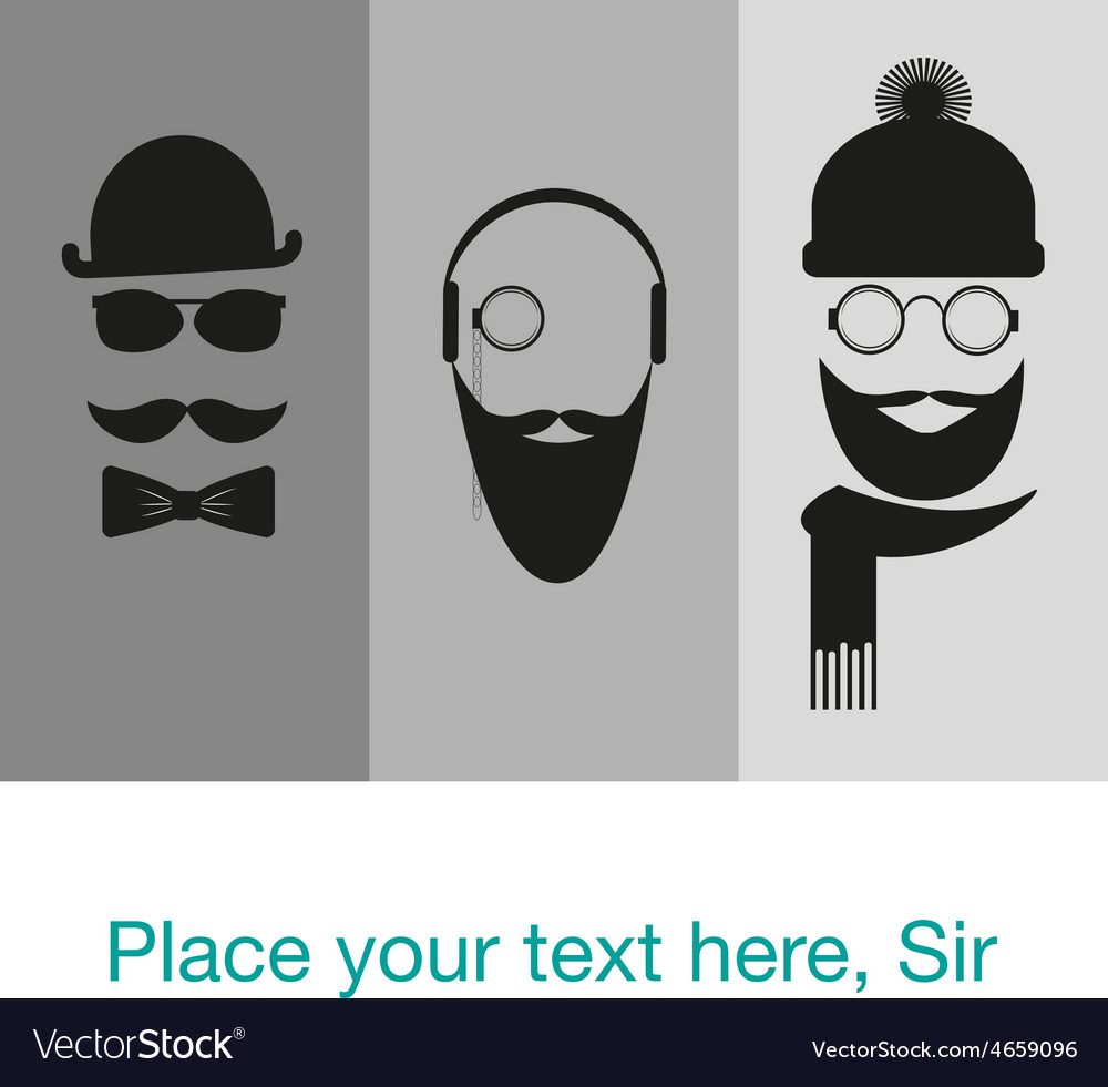 Hipster background template card banner vector | Price: 1 Credit (USD $1)