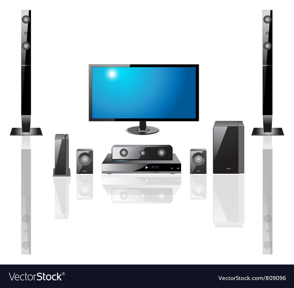 Home theater components vector | Price: 1 Credit (USD $1)